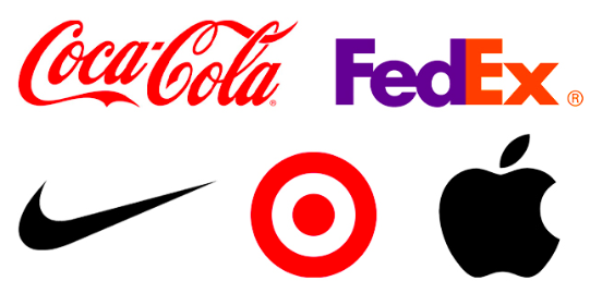 Coca-Cola, FedEx, Nike, Target and Apple Logos