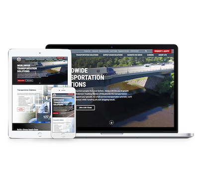 Anderson Trucking Services (ATS) website mockups