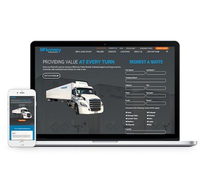 Mckinney Trailer Rentals website design